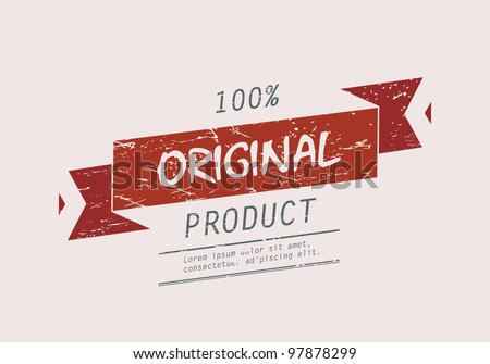 Original product. Vintage label design - stock vector