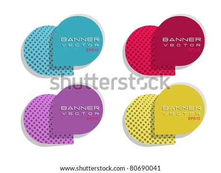 Original round banner - stock vector