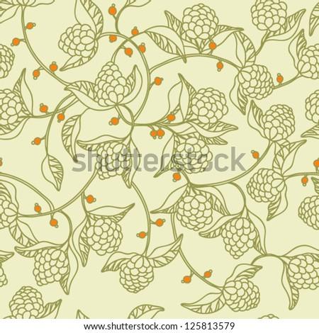 Original seamless vector floral pattern - stock vector