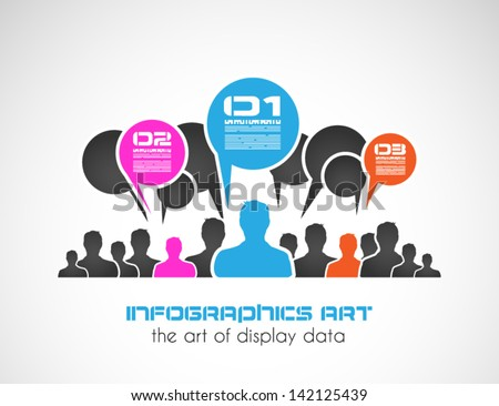 Original style infographic with man shapes for ranking purposes. To use for busness presentations or graphic reports - stock vector