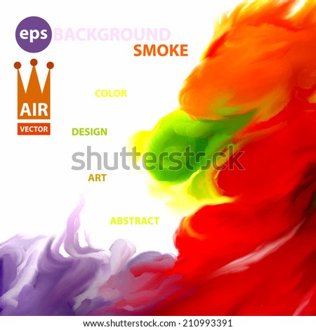 Original vector abstract smoke. Cloud of smoke isolated on white. Abstract beautiful banner paints.Color design background. - stock vector
