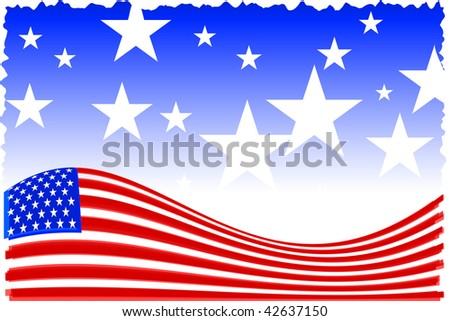 Original Vector Illustration: american patriot background AI8 compatible