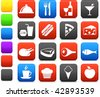 Original vector illustration: food and drink icon collection - stock vector
