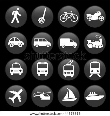 Original vector illustration: Transportation icons design elements - stock vector