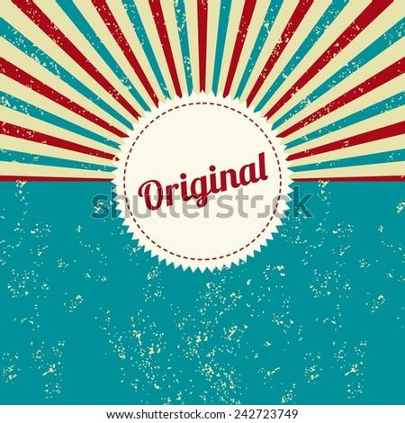 original vintage label - stock vector