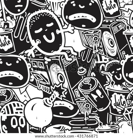 Original Youth Seamless Patterns, Repeating Image For Using Pattern On Any  Items, T