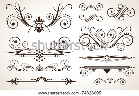 Ornament and Decoration for Borders on Classic Designs - stock vector