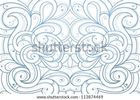 Ornament backdrop - stock vector