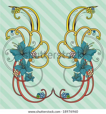 ORNAMENT COLOR - stock vector