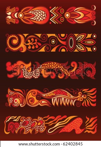 ornament decorative elements. Asian style - stock vector