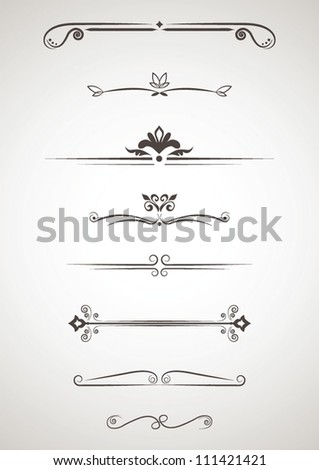Ornament elements - stock vector