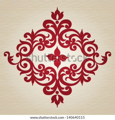 Ornament in Victorian style. Element for design. It can be used for decorating of invitations, cards, decoration for bags, clothes and at tattoo creation. - stock vector