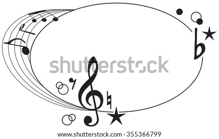 Ornament of musical symbols for graphic design. Vector illustration. - stock vector