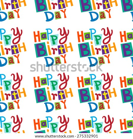 Ornament of the words birthday - stock vector