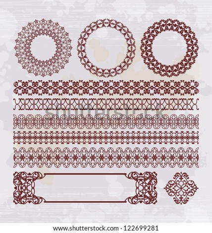 ornament pattern collection - stock vector