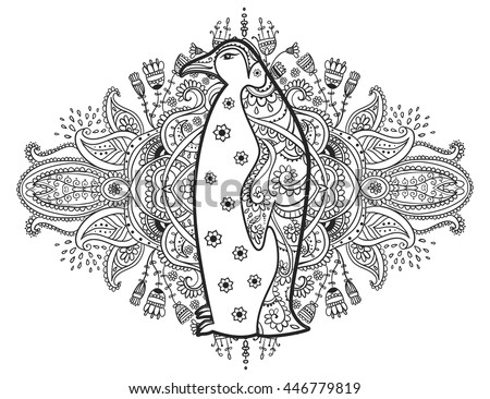 Pinguin stock images royalty free images vectors for Penguin adult coloring pages