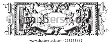 Ornament, Renaissance Sculpture, vintage engraved illustration. Dictionary of words and things - Larive and Fleury - 1895. - stock vector