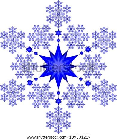 ornament star - stock vector