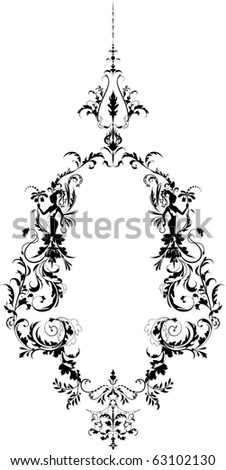 Ornament with girls. - stock vector