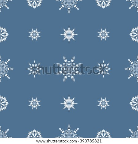 Ornamental Abstract Seamless Pattern Vector Illustration - stock vector
