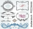Ornamental and page decoration design elements. - stock vector