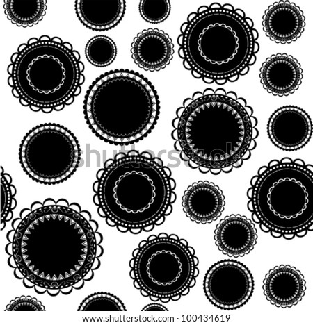 Ornamental background - black and white - stock vector