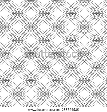 Ornamental black and white geometrical template for design. - stock vector
