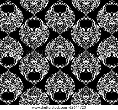 ornamental black and white wallpaper