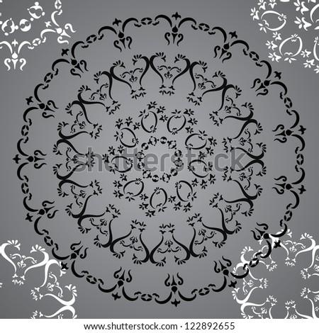 ornamental circle background - stock vector