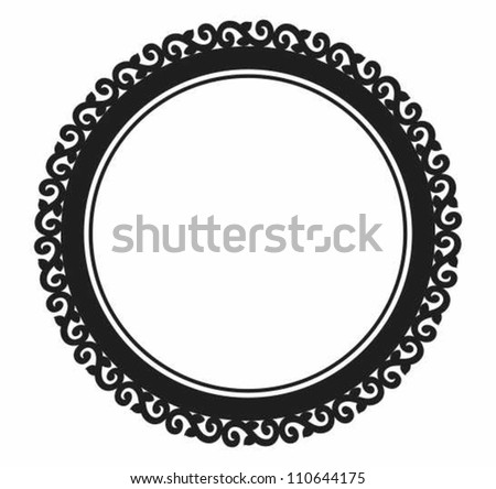 Ornamental circle frame. - stock vector