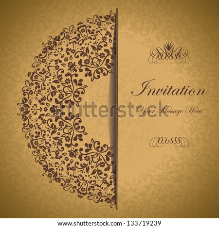 ornamental circle template with floral background. eps10 - stock vector