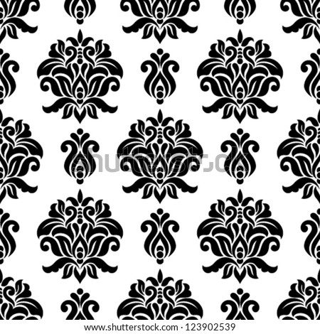 Ornamental damask floral background. Seamless pattern for your design wallpapers, pattern fills, web page backgrounds, surface textures. - stock vector