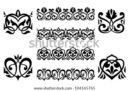 Ornamental elements and embellishments for design and decoration. Jpeg version also available in gallery - stock vector
