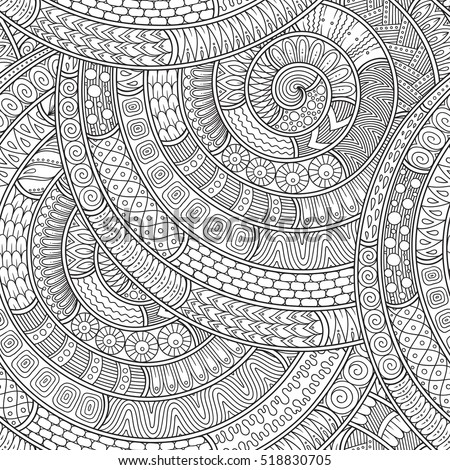 Ornamental Ethnic Black And White Pattern Background Can Be Used For Wallpaper Fills