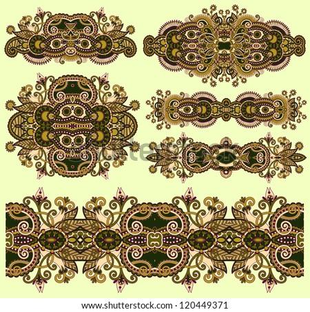 ornamental floral adornment - stock vector