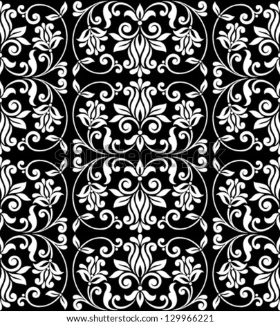 Ornamental floral background. Seamless pattern for your design wallpapers, pattern fills, web page backgrounds, surface textures. - stock vector