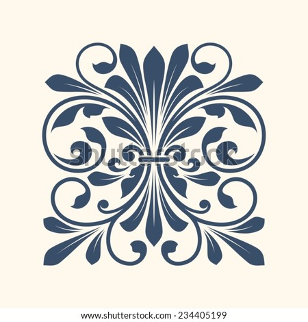 Ornamental floral element for design in vintage style. - stock vector