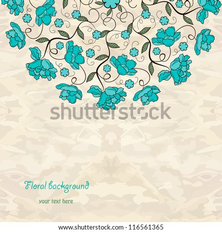 Ornamental floral round lace background.