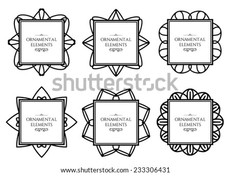 Ornamental frame collection. Vector set of page decorations - stock vector