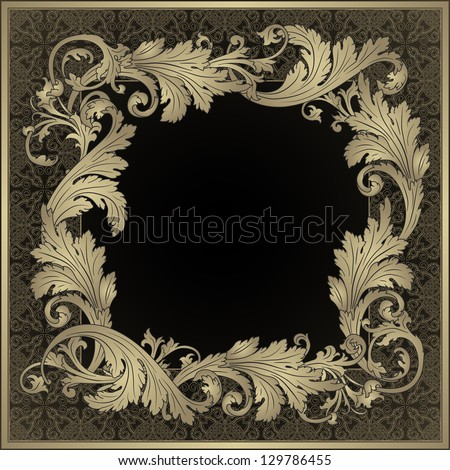 Ornamental frame. Vintage baroque style - stock vector