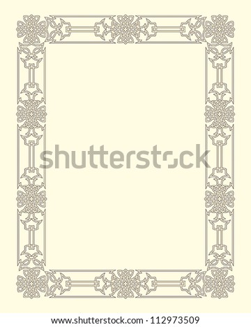 ornamental  frame vintage in editable vector file - stock vector