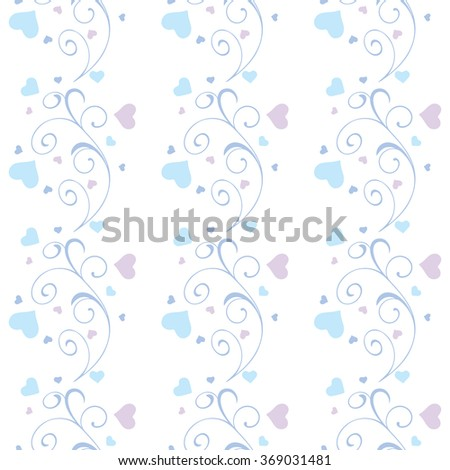 Ornamental frosty or floral background. Seamless pattern for your design wallpapers, pattern fills, web page backgrounds, surface textures.