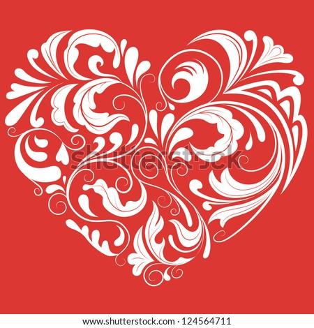 Ornamental heart - stock vector