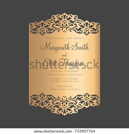 Ornamental lace border frame wedding invitation stock vector hd ornamental lace border frame wedding invitation stock vector hd royalty free 733907764 shutterstock stopboris Choice Image