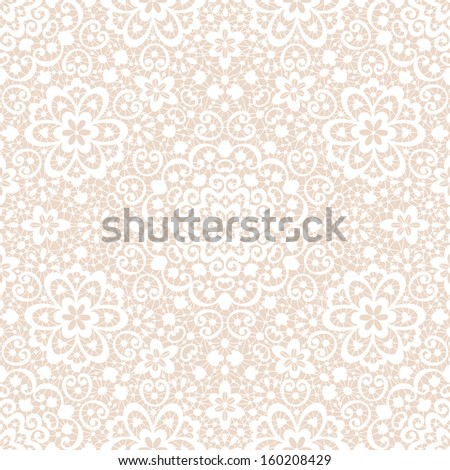 Ornamental lace seamless pattern textured background - stock vector