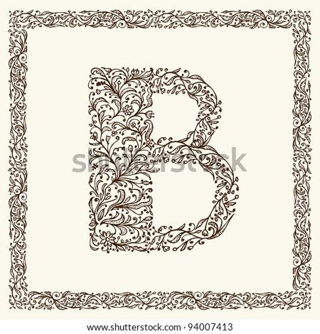 Ornamental letter for your design - stock vector
