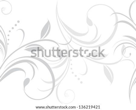 Ornamental light gray border isolated on the white. Vector - stock vector
