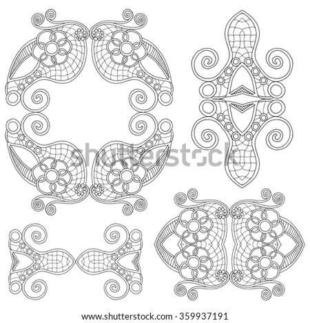 Ornamental paisley bandanna. Original design suitable for carpet, pillow, scarf, cushion..  - stock vector