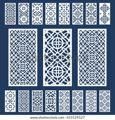 Ornamental Panels Template Set Cutting Exterior Stock
