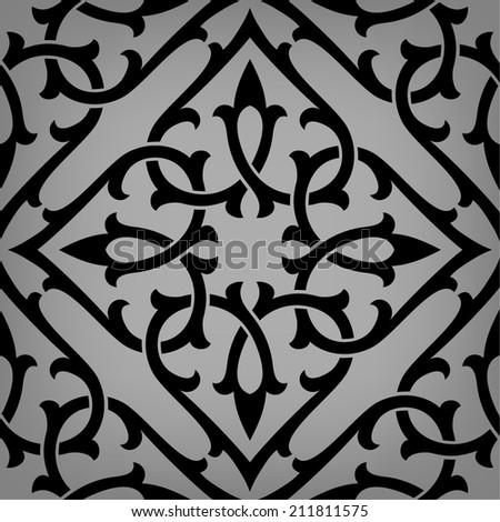Ornamental pattern. Arabic seamless background. - stock vector